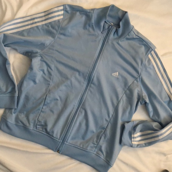 adidas Jackets   Blazers - ADIDAS Women s Track Suit Top in Baby Blue 3d5fe7c102